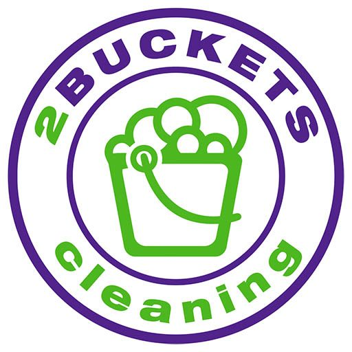 2 buckets cleaning circle logo